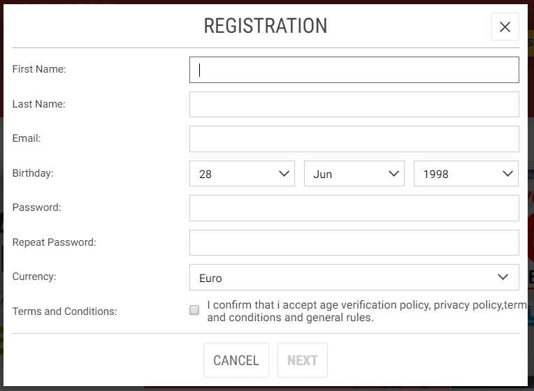 Meridianbet Register