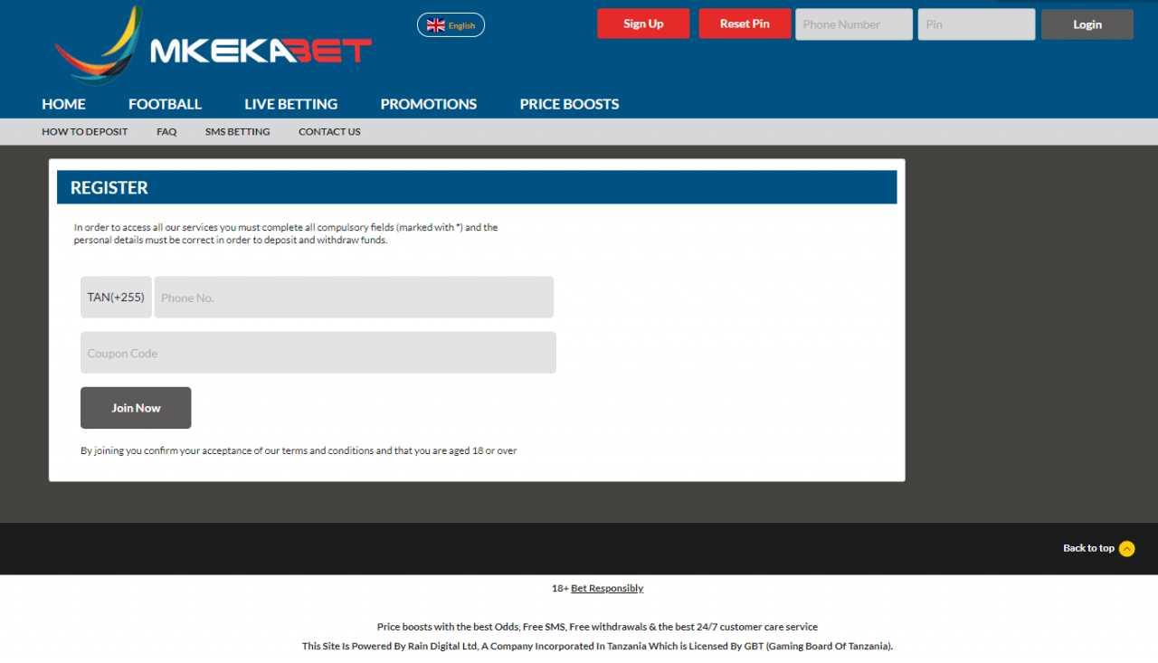 register to Mkekabet